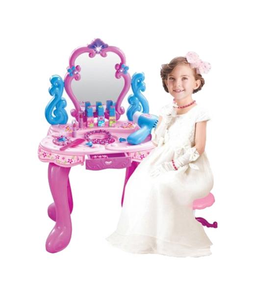 Купить Туалетный столик детский Shantou Gepai beauty c аксессуарами 008-86, Игрушечные туалетные столики