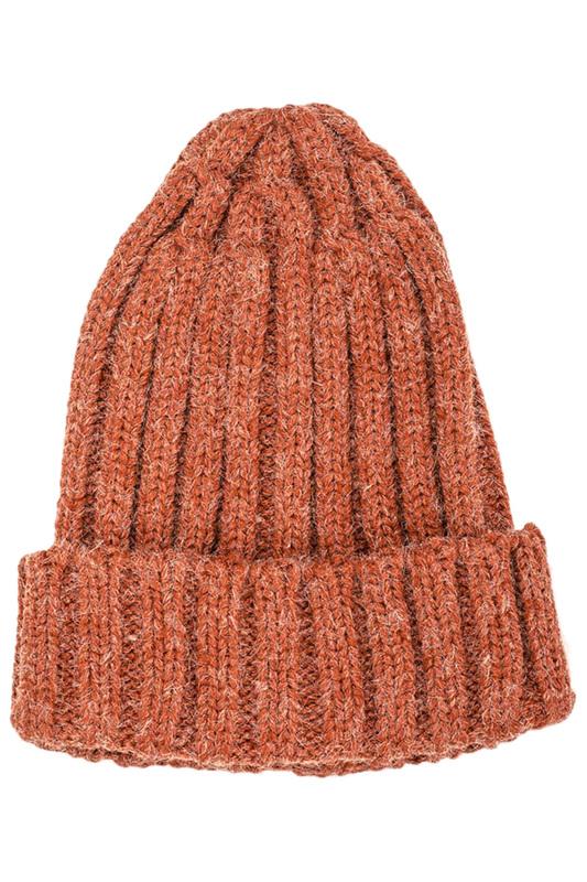 Шапка женская Moltini 195Q-1713 оранжевая ONE SIZE