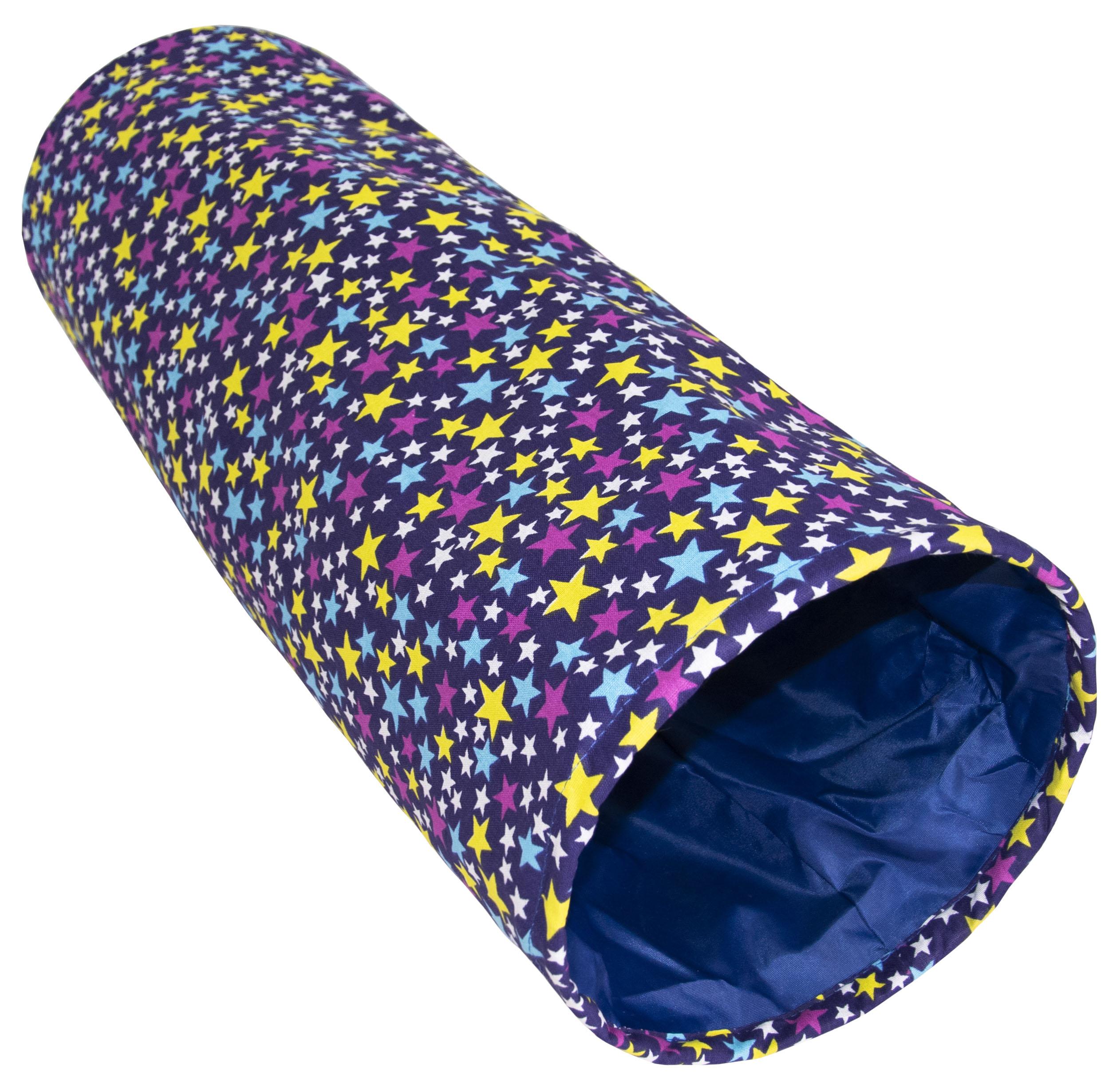 Тоннель для кошек Великий Кот Звездочка, с шуршащим элементом, фиолетовый, 22х22х65см