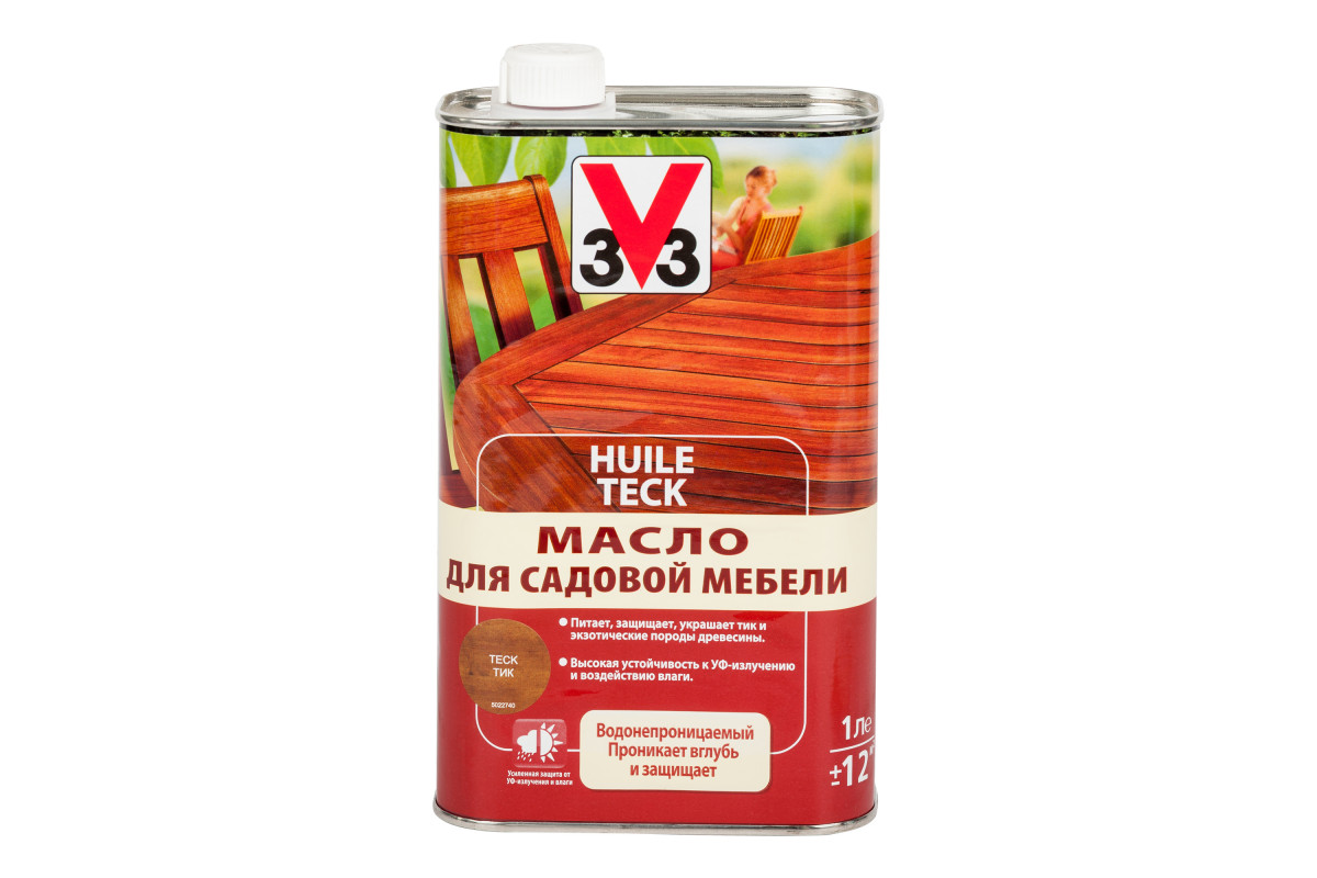 Масло для садовой мебели 3V3 1л. бесцветный