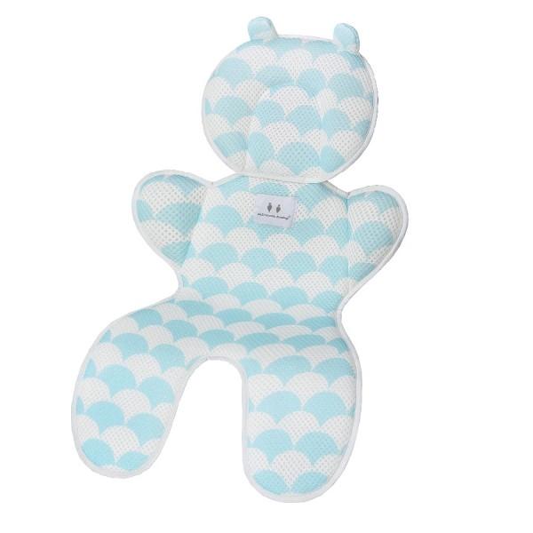 Матрасик дышащий для новорожденных Happy Mom Голубой