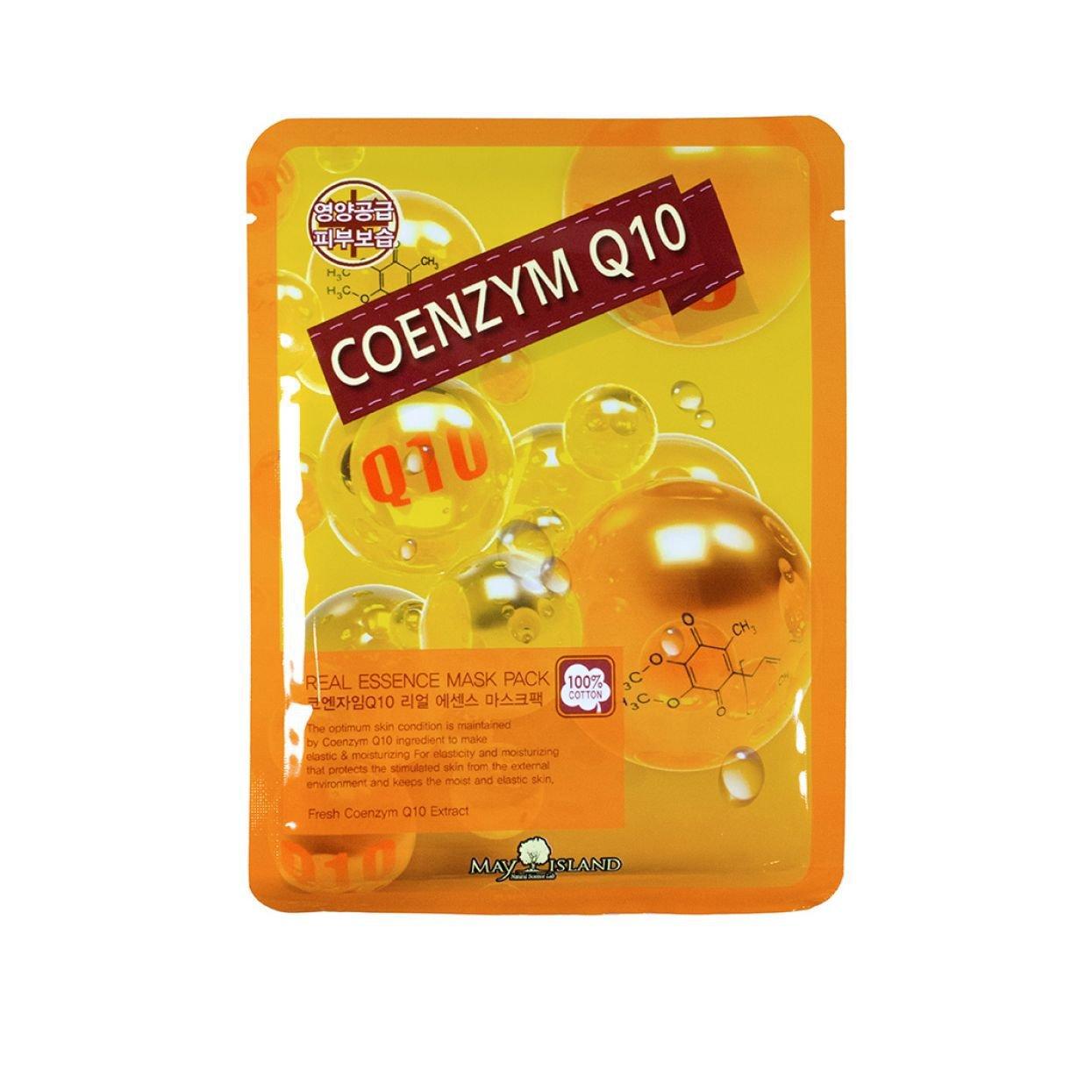 Купить Маска для лица тканевая May Island Real Essence Coenzyme Q10 Mask Pack 25мл
