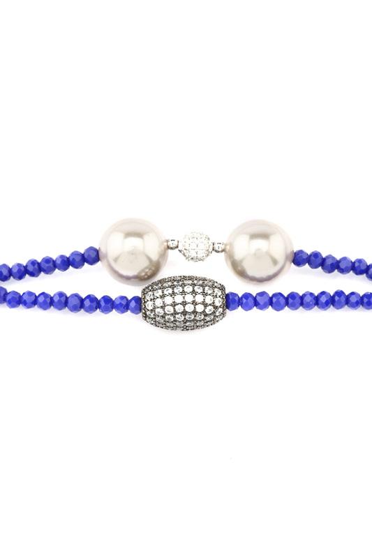 Колье женское DONNA LORENA РКЛ400013 синее фото