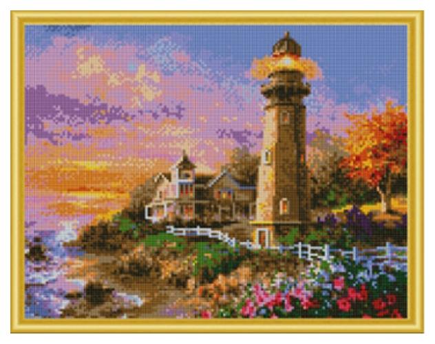 Купить РЫЖИЙ КОТ Алмазная мозаика Старинный маяк, 40x50 см AC4011, Рыжий кот, Мозаики