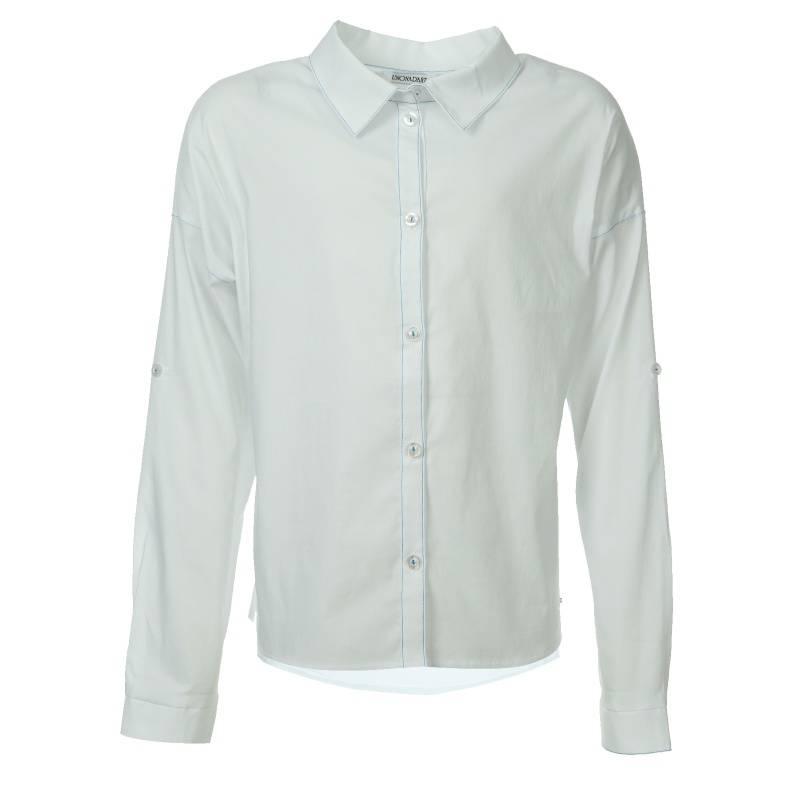 Купить 660, Блузка UNONA D'ART, цв. белый, 152 р-р, Детские блузки, рубашки, туники