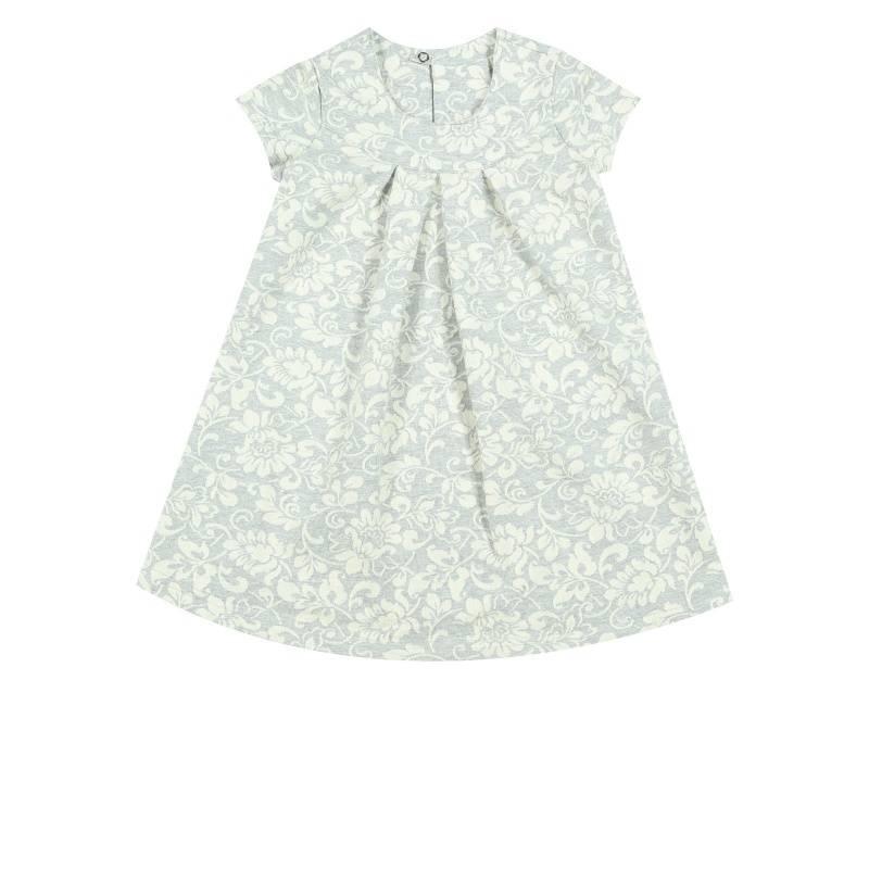 Купить Платье Веселый малыш, цв. серый, 122 р-р, Детские платья и сарафаны