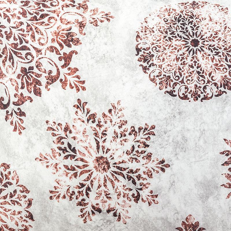 Скатерть Lameirinho круглая д.170см, цвет бежевый, коричневый, 100% хлопок