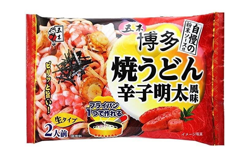 Лапша удон Itsuki с морепродуктами и с острой икрой минтая 2 порции Япония 376 г фото