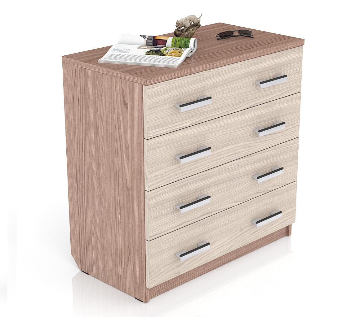 Комод Мебельный Двор К-10 80х43х81 см, ясень шимо темный