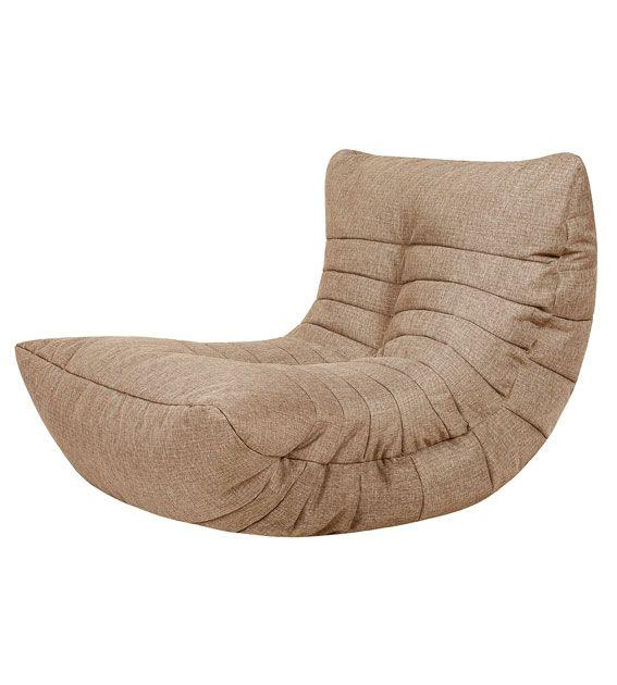 Кресло бескаркасное Папа Пуф Cocoon Chair Biege, размер L, рогожка, бежевый