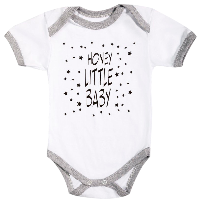 Купить HONEY LITTLE BABY КР, Боди детское с коротким рукавом Amarobaby р.68, Боди для новорожденных
