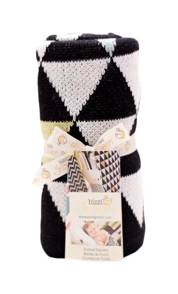 Купить Одеяло Bizzi Growin (Биззи Гровин) Triangles 70*90 BG015, Одеяла для новорожденных