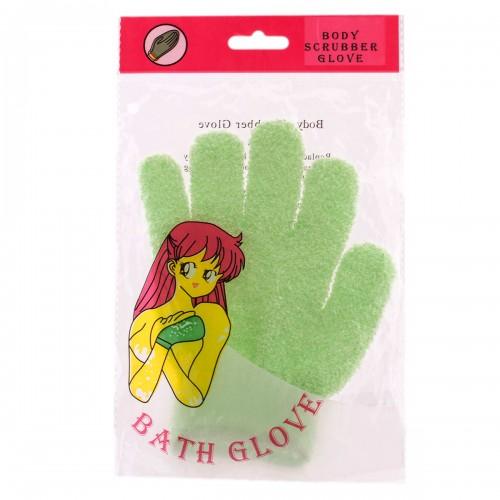 Мочалка - перчатка VT для пилинга светло-зеленая