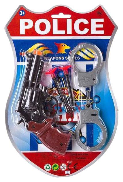 Купить Набор игр. пистолет с присосками, CRD, 2 вида с наручниками/ с утками-мишенями, арт.22-2., NoBrand, Детские наборы полицейского