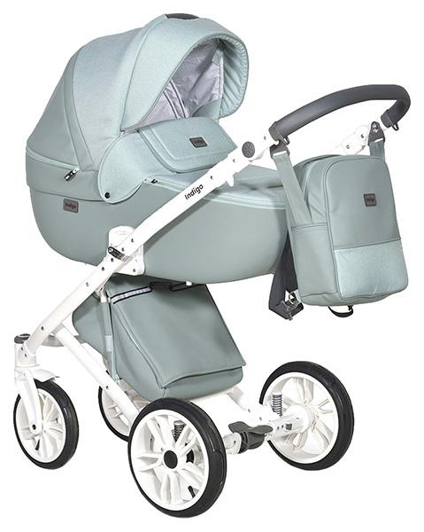 Купить Коляска 2 в 1 Indigo Porto Po 05 цв. шалфей, Детские коляски 2 в 1