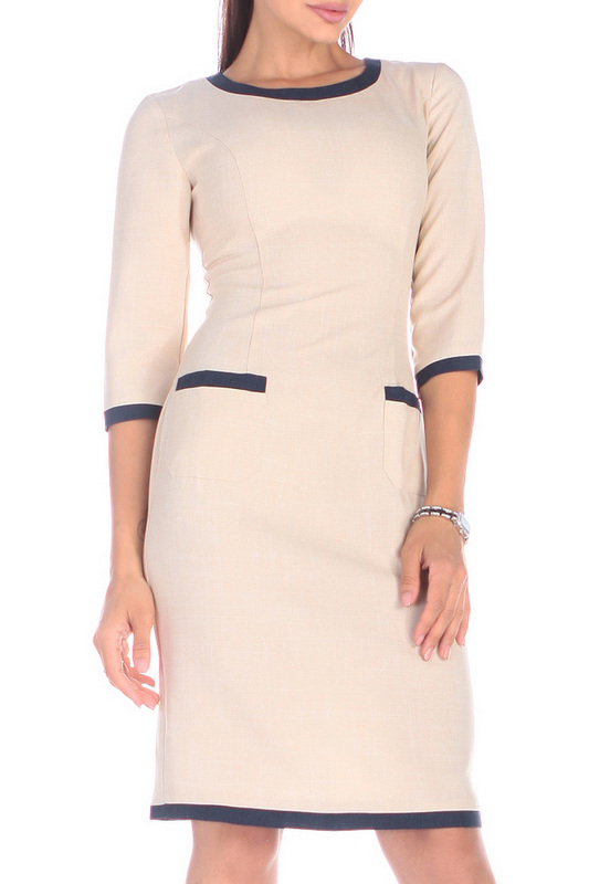 Платье женское Rebecca Tatti RR330_14LN_41LN бежевое M