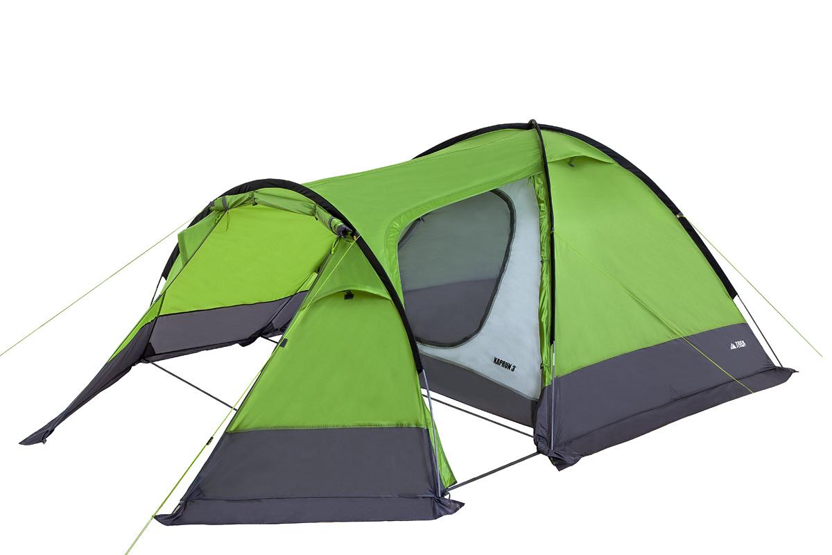 Палатка Trek Planet Kaprun трехместная зеленая