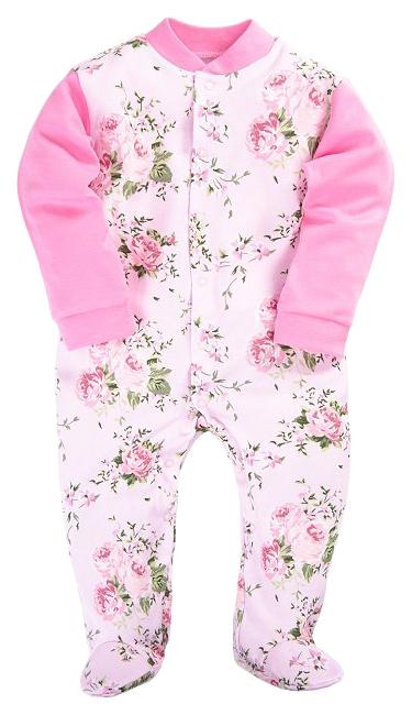 Купить 51322, Комбинезон Веселый Малыш Прованс розовый, р.86, Веселый малыш, Трикотажные комбинезоны для новорожденных