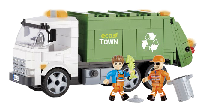 Купить Конструктор пластиковый COBI Грузовик-мусоровоз, Конструкторы пластмассовые