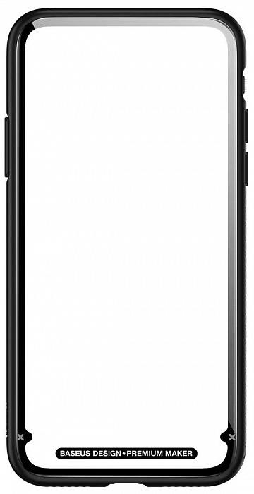 Чехол Baseus See-through Glass Protective Case для Apple iPhone X (Black)