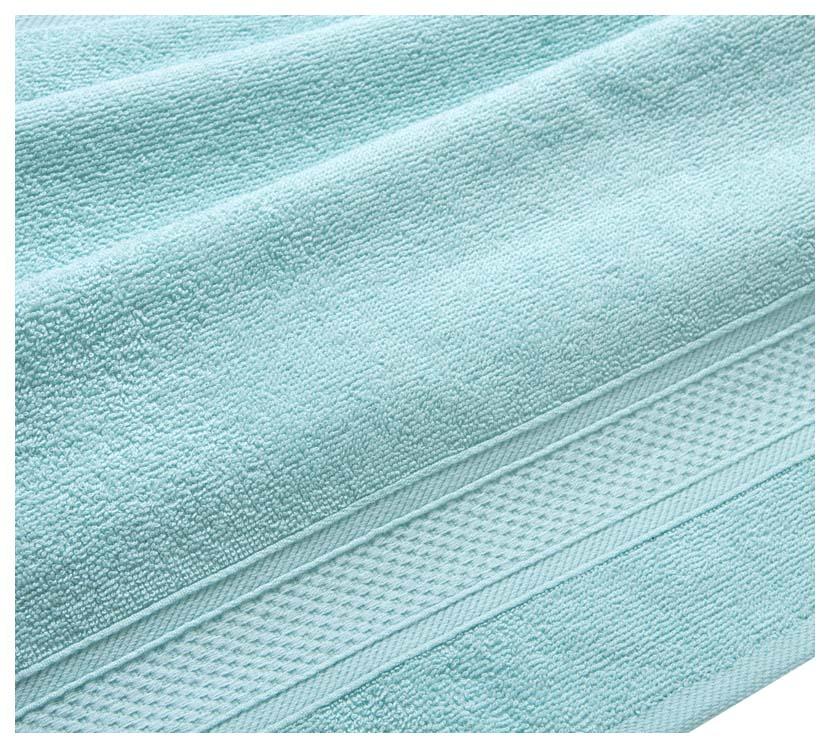 Полотенце махровое с бордюром (светло-голубое) 100х180