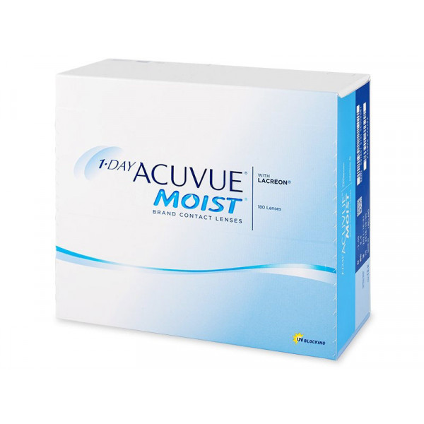 Контактные линзы 1-Day Acuvue Moist 180 линз R 9,0 -2,75