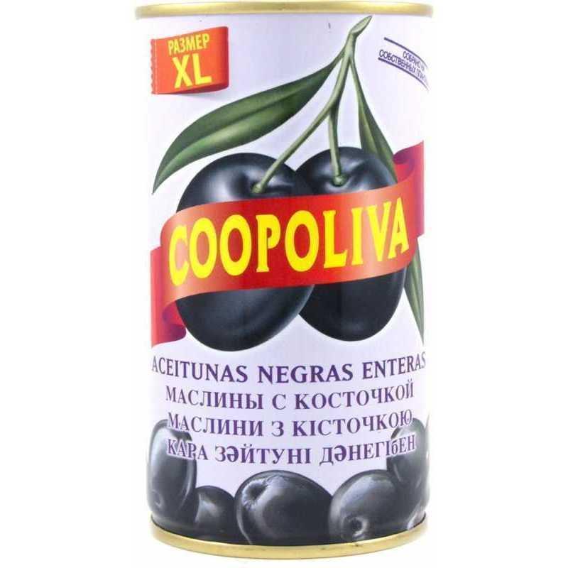 Маслины Coopoliva с косточкой 350 г
