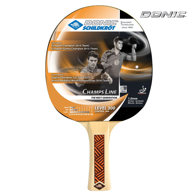 Ракетка для настольного тенниса Donic 705132 Champs 300, черная