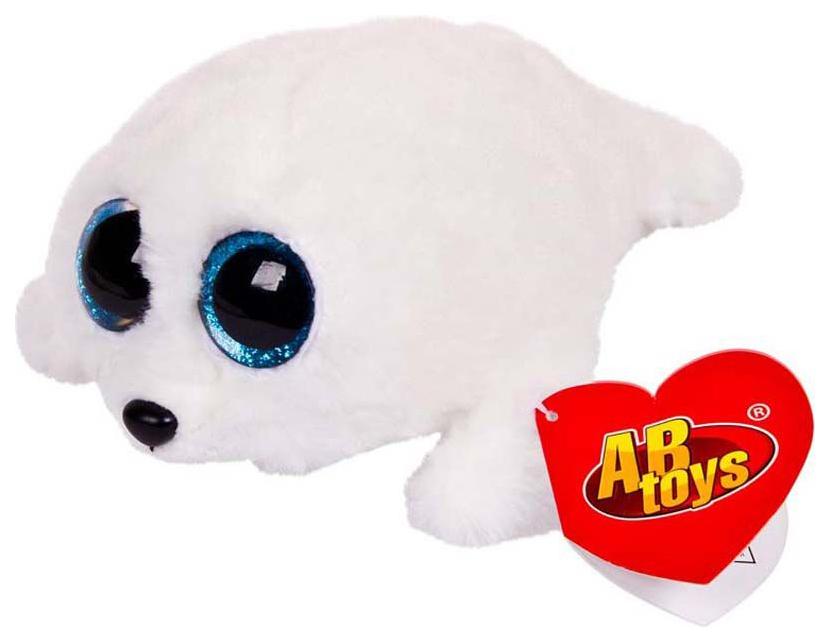 Купить Мягкая игрушка ABtoys Тюлень белый, 15 см, Мягкие игрушки животные