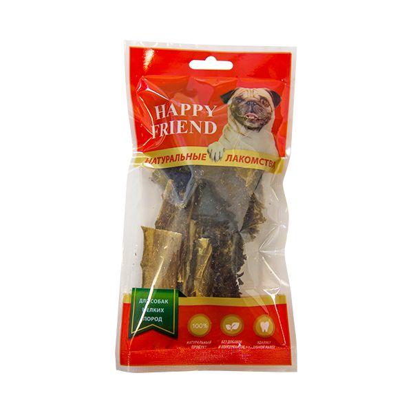 Лакомство для собак HAPPY FRIEND Рубец говяжий для мелких пород 30г.