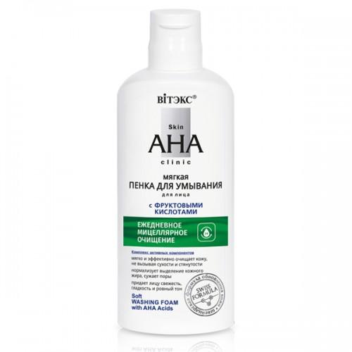 Купить Пенка для умывания Витэкс Skin AHA Clinic с фруктовыми кислотами мягкая 150 мл, Vitex