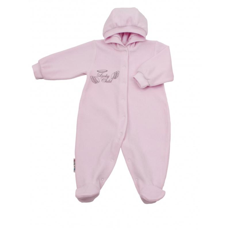 Купить 17-3 розовый, Комбинезон Lucky Child Розовый р.62, Трикотажные комбинезоны для новорожденных