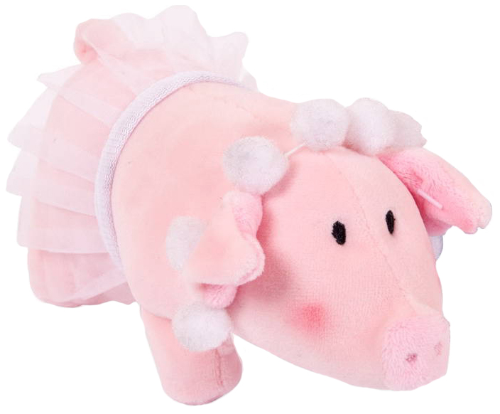 Мягкая игрушка Chuzhou Greenery Свинка с бусами в юбке-пачке 19857