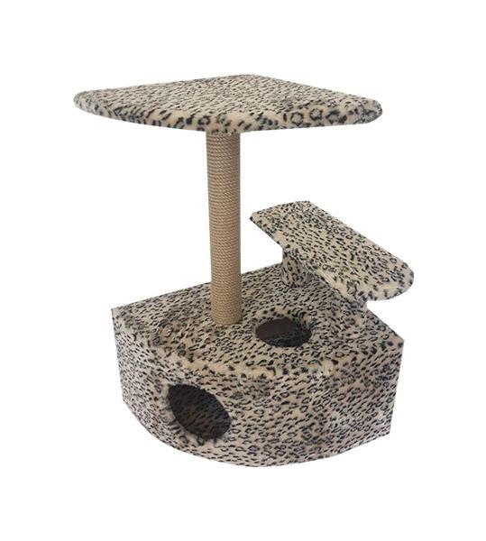 Комплекс для кошек Пушок Угловой со ступенькой Бежевый