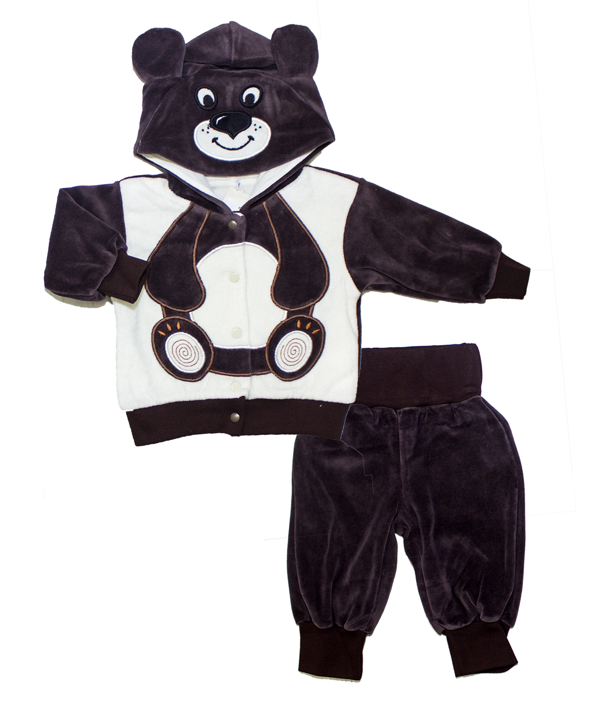 Купить Комплект одежды Осьминожка 518-274В-22/68 коричневый р.68, Детские костюмы