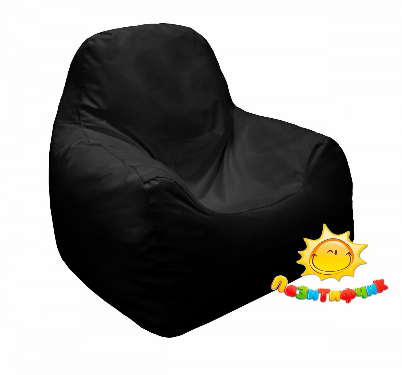 Кресло-мешок Pazitif Пазитифчик, размер M, экокожа, черный фото