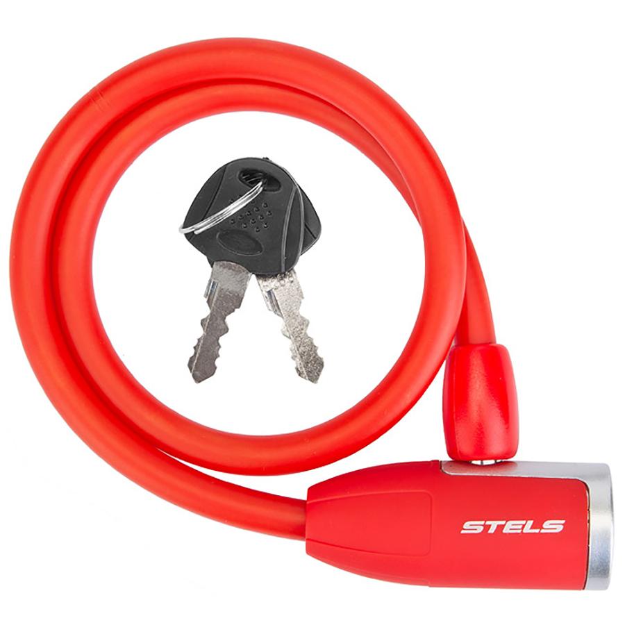 Трос-замок 84356 (650мм) d 10mm, Красный