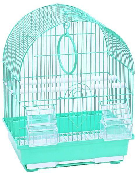 Клетка для птиц №1, овальная, укомплектованная,