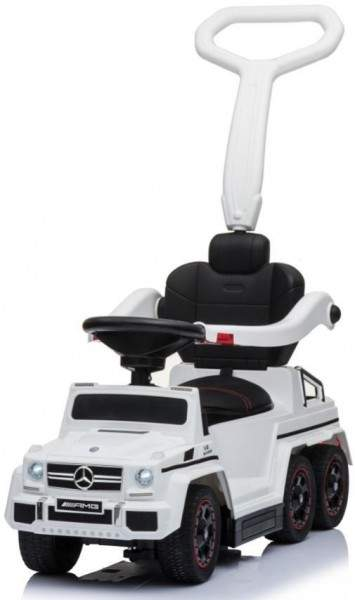 Купить Толокар Rivertoys Mercedes-Benz A010AA-H шестиколесный белый, Каталки детские