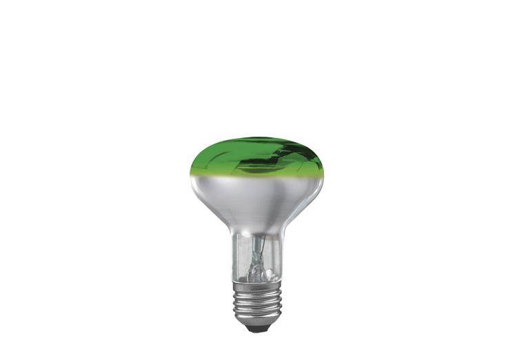 Лампа R80 рефлекторная, зеленая-прозрачная E27, 60W 25063