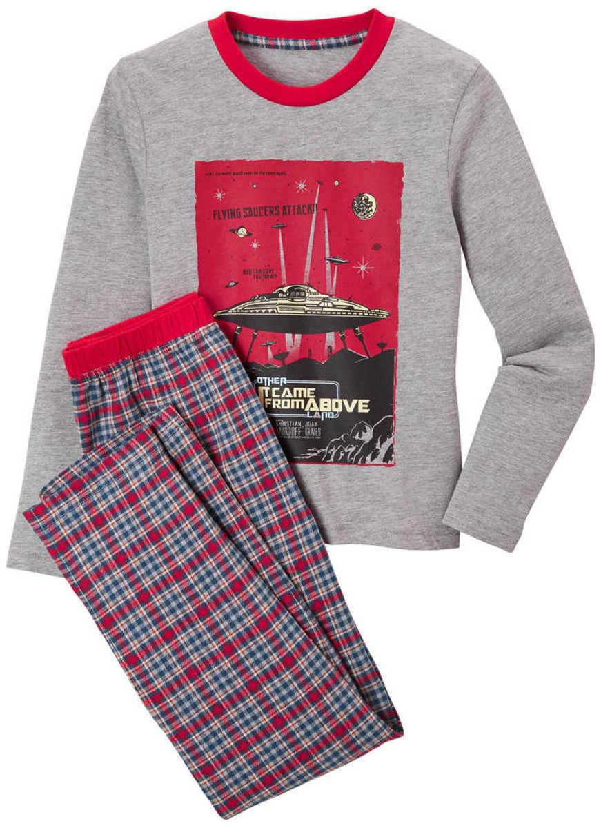 Пижама для мальчика Hip&Hopps серая р.146-152