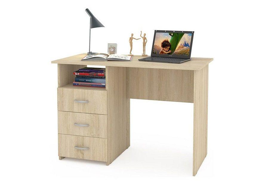 Компьютерный стол Mobi Комфорт 10 СК MOB_76627 100x57x76, дуб сонома