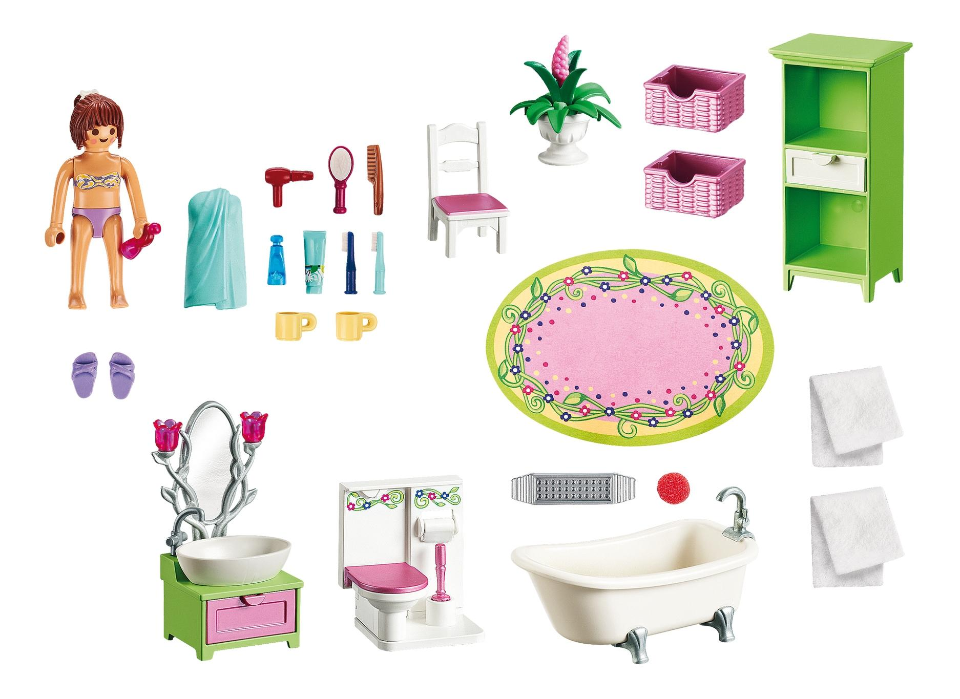 Кукольный дом: романтическая ванная комната