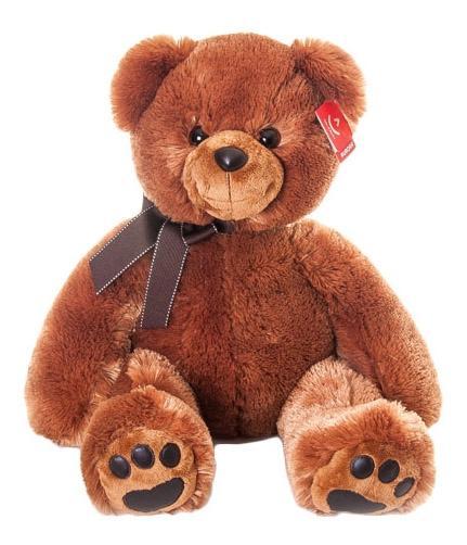 Купить Мягкая игрушка Aurora 41-102 Медведь Тёмно-коричневый 70 см, Мягкие игрушки животные
