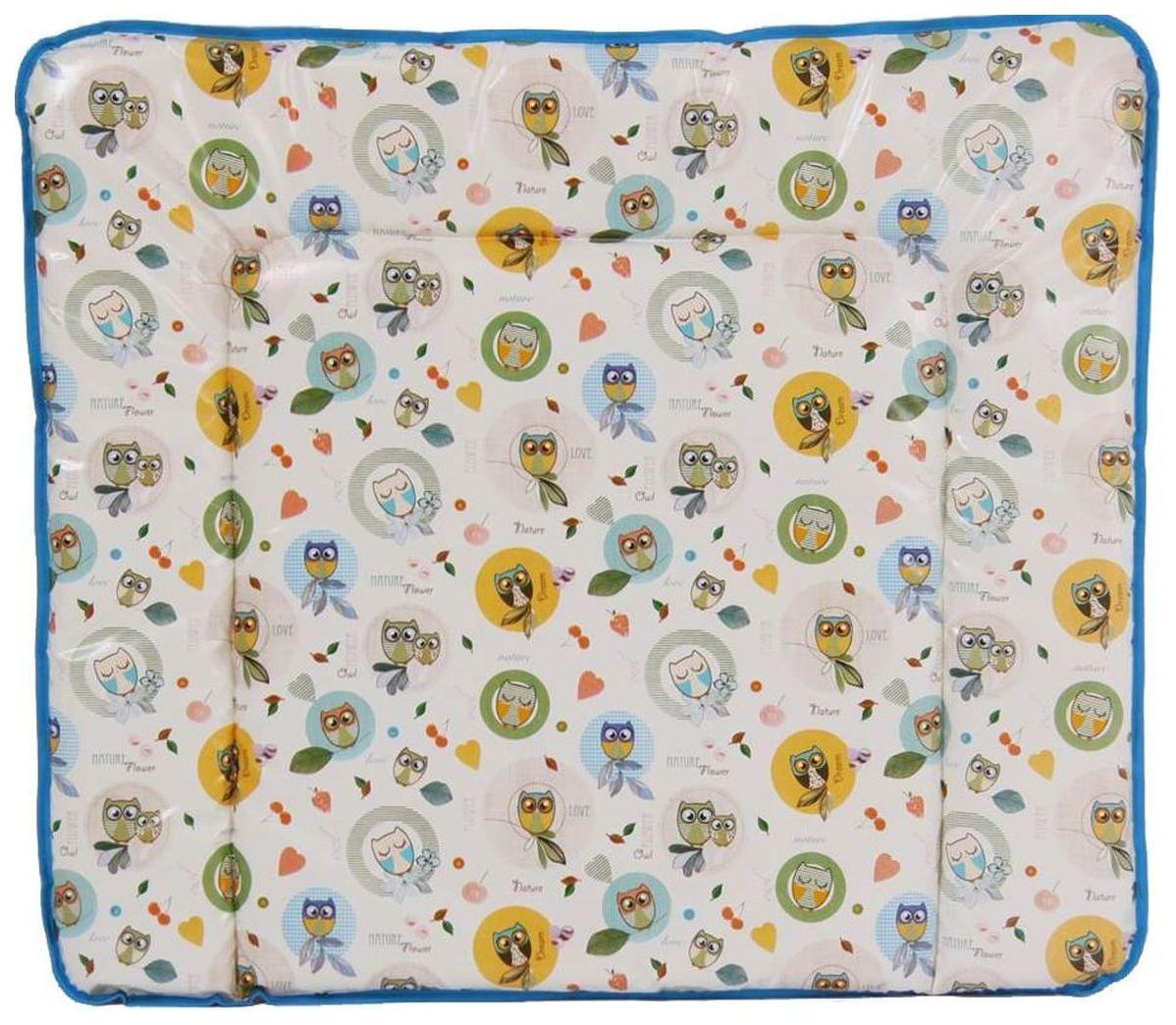 Матрас для пеленания Polini Совы Голубой 85х75 см