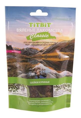 Лакомство для собак TiTBiT Вяленые лакомства, шейки куриные Classic, 60г