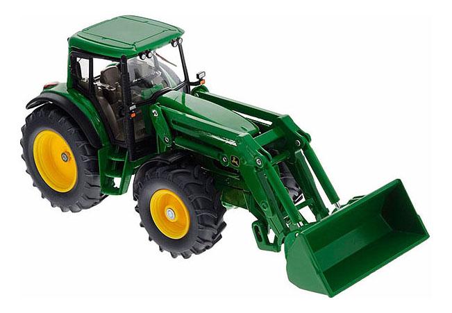 Купить 1:32 Трактор Джон Дир с ковшом, зеленый, Трактор Siku Джон Дир с ковшом зелёный, Строительная техника