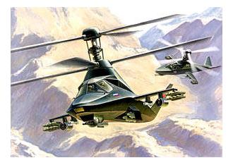 Модель для сборки Zvezda Вертолет Ка-58 Черный призрак