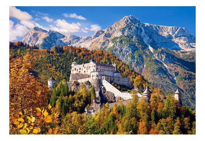 Купить Замок Хоэнверфен. Австрия, Пазл Castorland Замок, Австрия 1000 деталей C-103454, Пазлы
