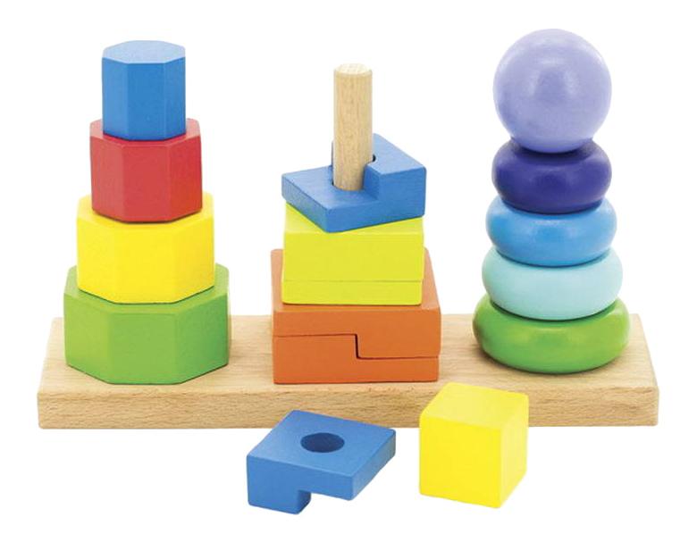 Купить Д037, Пирамидка Игрушки из дерева Пирамидки 3 в 1 , Пирамидки для детей